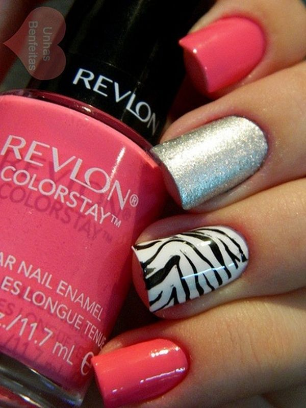 Simple Nail Design Ideas Zebra Nails
