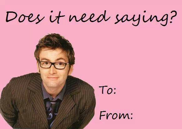 David Tennant   Ten   Doctor Who Valentines Day Cards!
