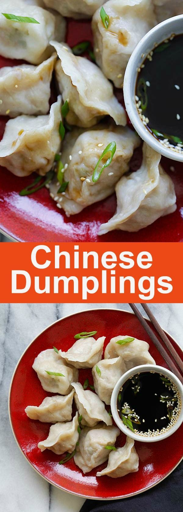 Pork and Chive Dumplings - juicy and delicious Chinese dumplings filled with ground pork and chives. Homemade dumlingi is the best | http://rasamalaysia.com