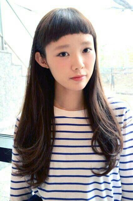 ラウンドスゥイートロング☆☆今年大人気の前髪短めロングstyle☆☆小顔効果抜群、明るく華やかな大人気のstyleです。