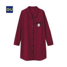 (GU)ラウンジシャツワンピース(ディズニー)A