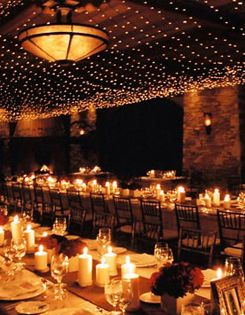 you cannot have too many candles at a wedding reception...