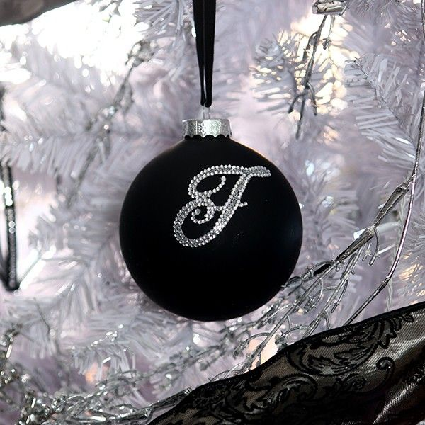 Black Bling Monogram Bauble in Luxe Lifestyle