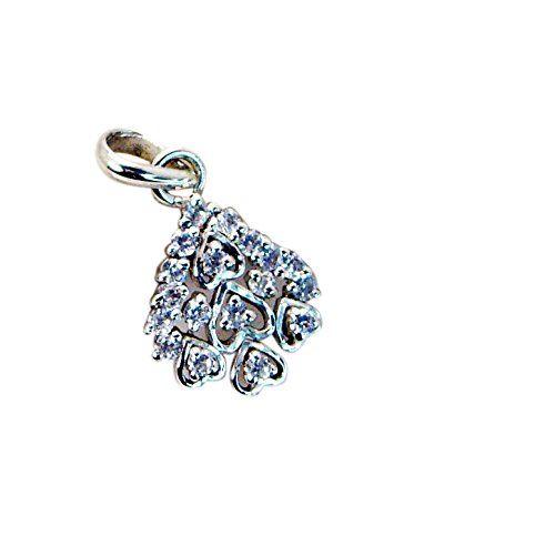 Riyo bianchi cz design di gioielli in argento pendants religiosi l 0.7in spwhcz-110004