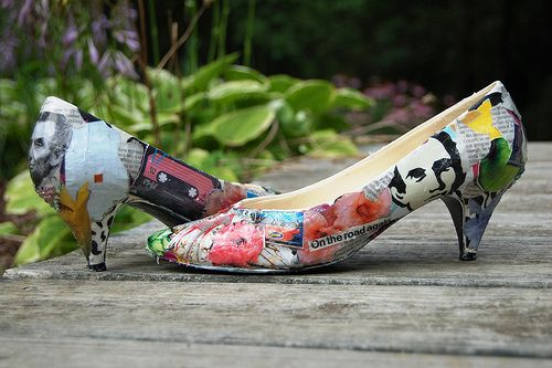 Decoupage(ish) shoes by Stacie Stacie Stacie, via Flickr