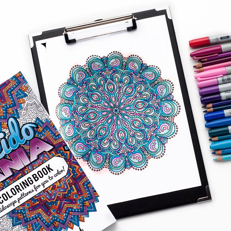Free adult coloring page mandala from the Kaleidomania adult coloring book by Sarah Renae Clark   www.sarahrenaeclark.com   Colored by Raychell Henry