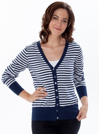 With its flattering boat neck and classic stripes, this new wrinkle-free top is a timeless, standout style. Buy it Now!