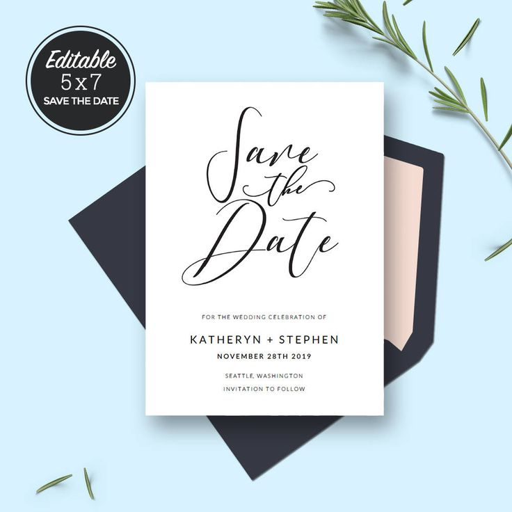 Best 25+ Minimal Wedding Save The Dates Ideas On Pinterest