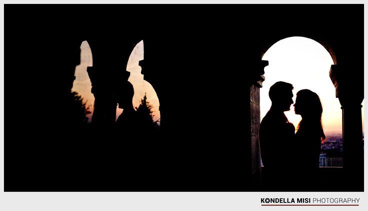Budapest e-session #engagement #photoshoot #silhouette #Hungary #castle