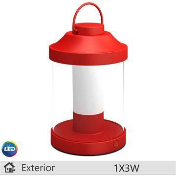 Lampa LED portabila Philips Abelia rosu 1x3W http://www.etbm.ro/iluminat-decorativ-exterior