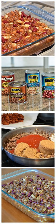 Calico Beans are my go-to dish for potlucks and parties. With a pound of bacon, you cant go wrong!