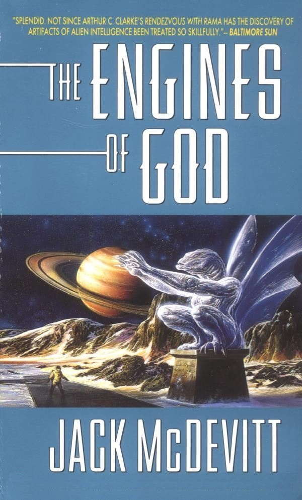 The Engines of God - Jack McDevitt was first published in 1994. This cover illustration by Bob Eggleton.