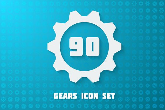 Check out Flat Gears Set by MastakA on Creative Market