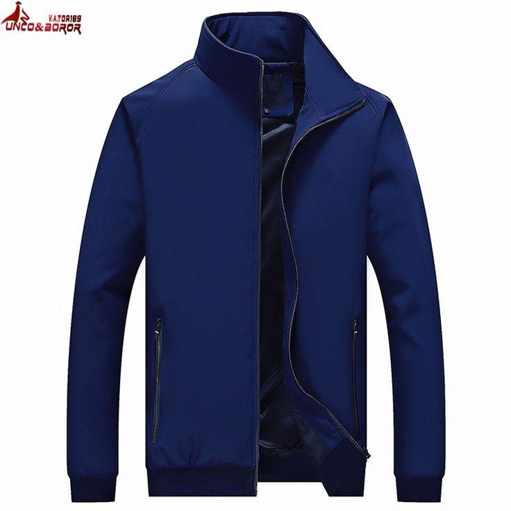UNCO&BOROR new spring fall Jacket Men Fashion Casual elastic fabric Mens Jacket Sportswear Bomber Jacket Mens jackets and Coats #Affiliate