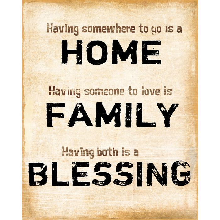 Home Family Blessing Wall Art