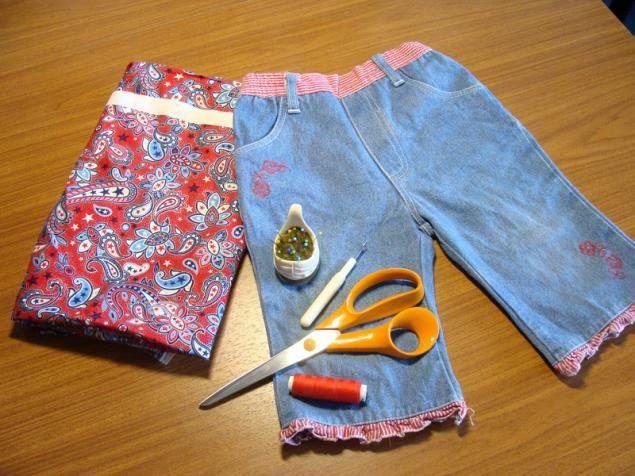 Как из старых джинсов сделать юбку