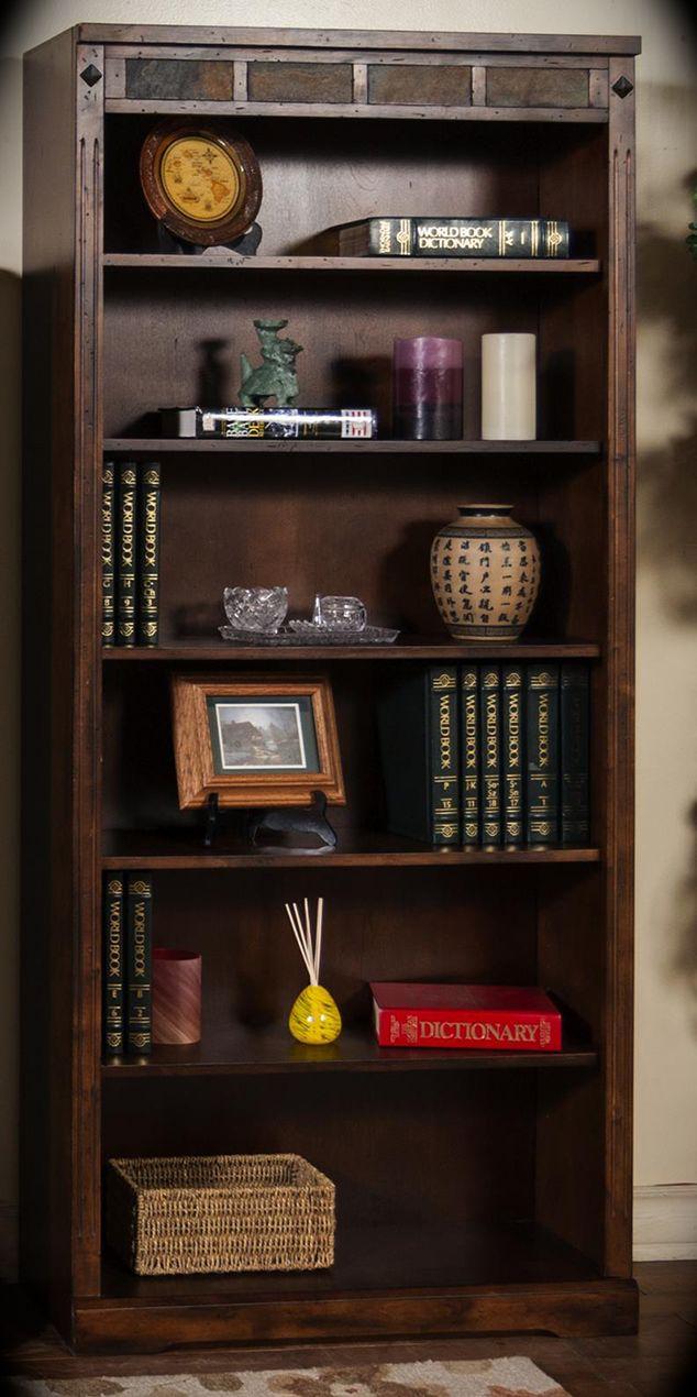 Santa fe wood platform storage bed in dark chocolate by sunny designs - 72 Bookcase Santa Fe Dark Chocolate Width 32 Height 72 Depth