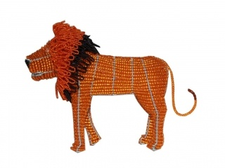 Wire and bead lion