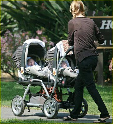 CELEBRITY BABIES: Patrick Dempsey, his wife Jill Fink Dempsey and twin sons Darby Galen and Sullivan Patrick.