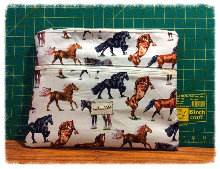 Big personalised pencil case/makeup bag/cosmetic bag/iPad bag/mini iPad bag by FengsCreations on Etsy