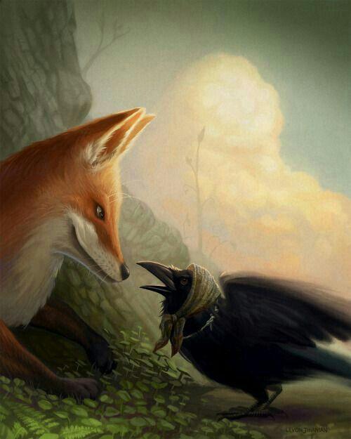 Картинки лиса и ворон