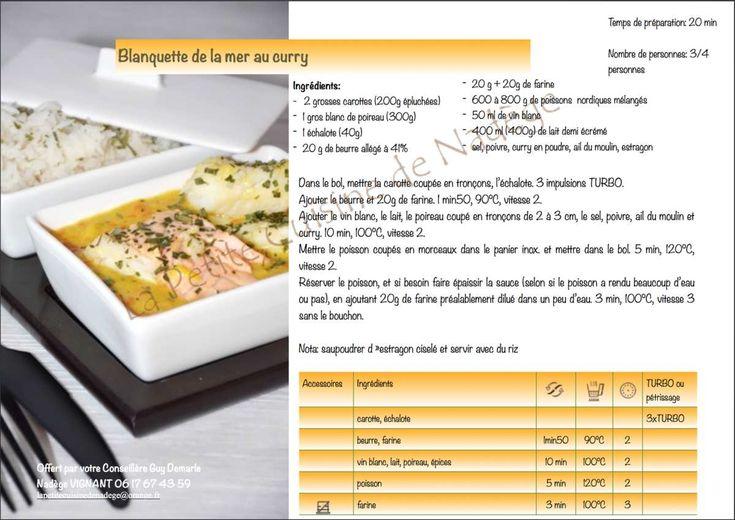 Fiche recette de la blanquette de la mer au curry