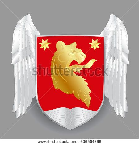 Heraldic royal crests coat of arms. Heraldry template - stock photo