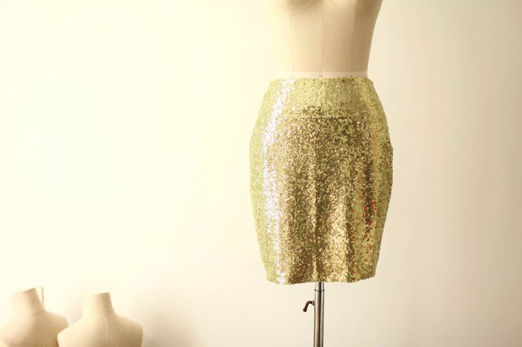 Light Gold Sequin Skirt Fitted Tight Pencil Skirt Bridesmaid Skirt Short Sequin Skirt by CocoTutuhouse on Etsy https://www.etsy.com/listing/215157936/light-gold-sequin-skirt-fitted-tight