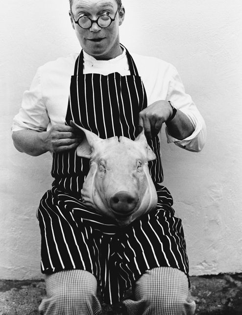 All of these photos of chefs from Melanie Dunea's books are amazing. Such personality. (This is Fergus Henderson)