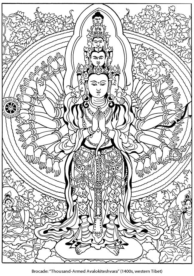 Find This Pin And More On Dover Publications Kleurplaat Tibetaans Design Welcome To Tibetan Designs Colouring Page