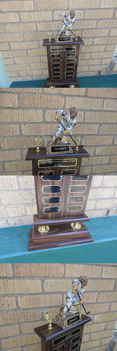 Other Ice and Roller Hockey 2911: Perpetual Fantasy Monster Hockey Trophy Award BUY IT NOW ONLY: $68.0