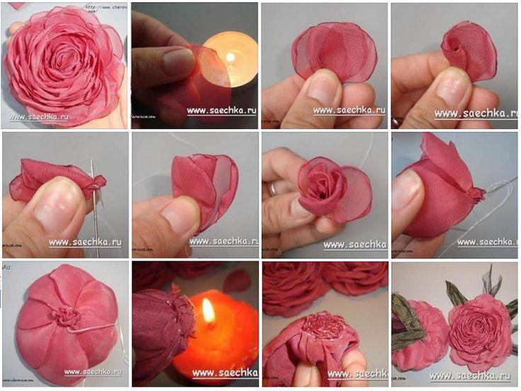 como hacer flores de tela - Buscar con Google