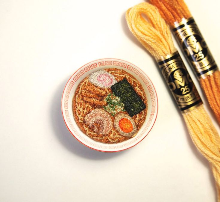 ipnot stitches realistic embroideries of traditional japanese dishes