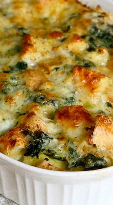 spinach and cheese strata - Strata Egg Dish