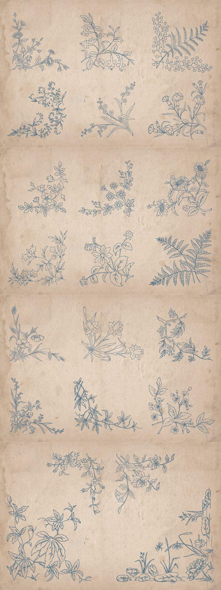 22 Vintage Floral Corners - https://www.designcuts.com/product/22-vintage-floral-corners/
