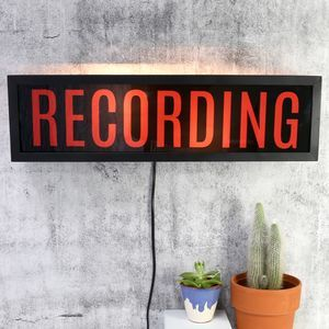 Recording Light Box Sign - new in home