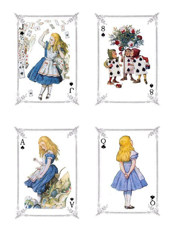Картинки карты из алисы в стране чудес