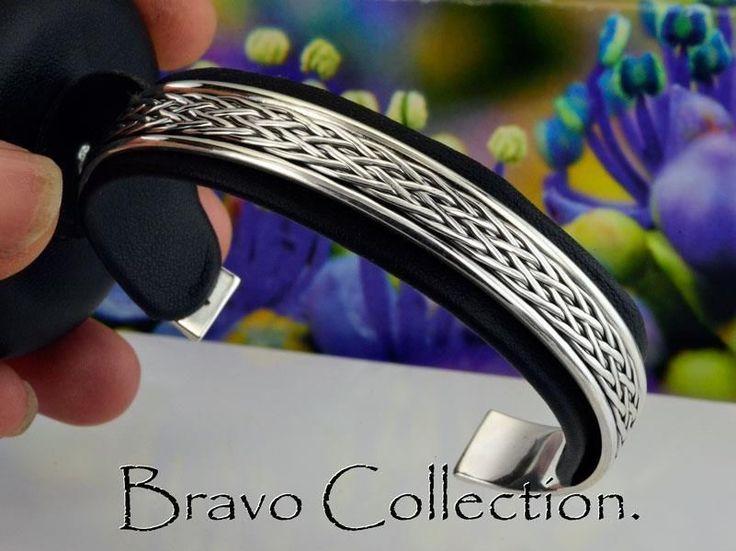 1SB-188 Jewellery Gift Solid Sterling Silver Wristband Cuff Bangle Men Bracelet