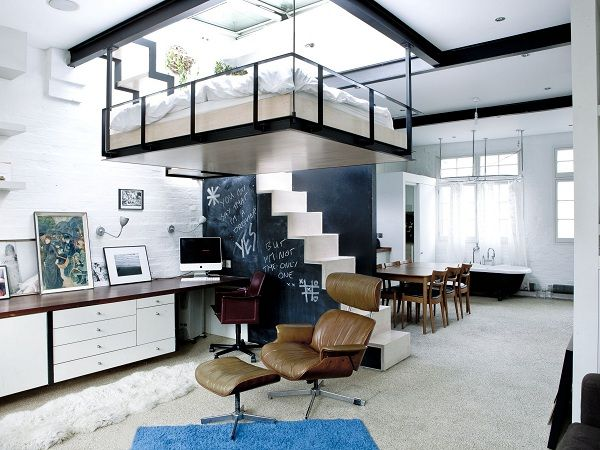 saving space with a suspended bedroom london flats may be chic but as in most cities space is usually limited so designing homes in major cities takes a