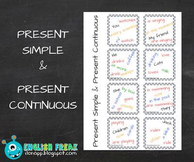 English Freak | Blog o nauczaniu języków obcych: PRESENT SIMPLE AND PRESENT CONTINUOUS SENTENCES