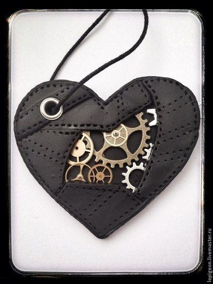 Heart with gears #leather #heartshape #steampunk