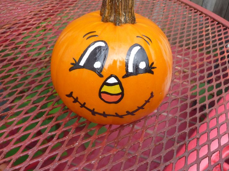 painted pumpkin - How To Paint Pumpkins For Halloween