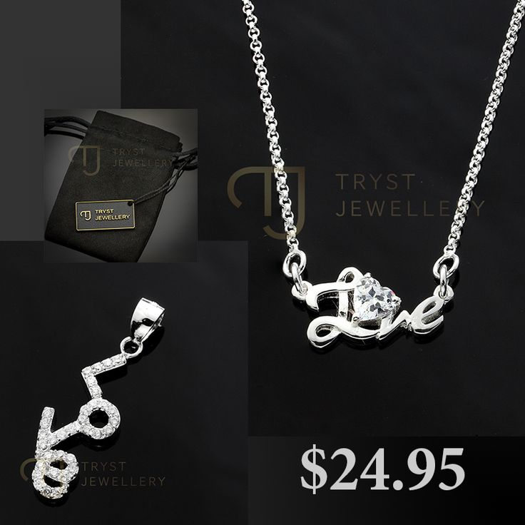 925 Love pendants $24.95ea Free postage Australia wide!  http://trystjewellery.com/index.php?route=product%2Fsearch&search=love