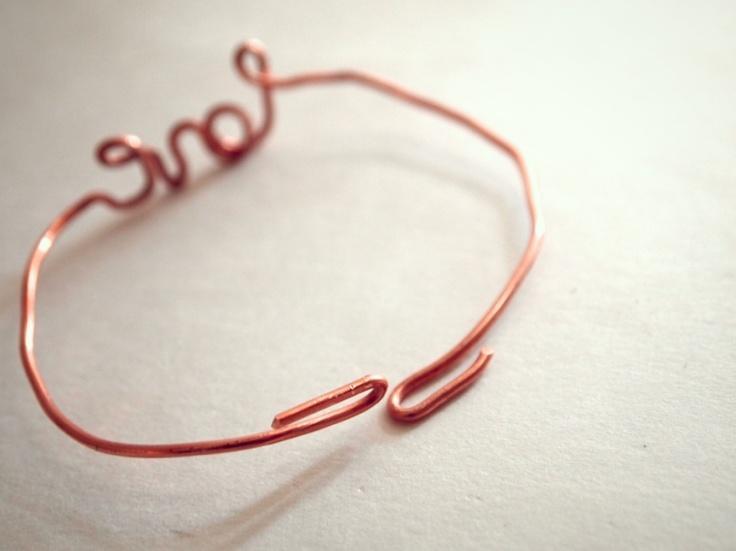 Glitter N Glue DIY Wire LOVE Valenties Bracelet