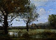 """New artwork for sale! - """" Corot Meadow With Two Large Trees by Jean Baptiste Camille Corot """" - http://ift.tt/2pQgeRV"""