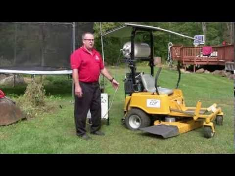 Solar Hydrogen Fuel Cell Electric Ride-On Lawn Mower - YouTube