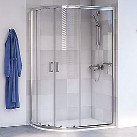 Aqualux Shine 6 Offset Quadrant Shower Enclosure LH/RH Polished Silver 1000 x 800 x 1900mm