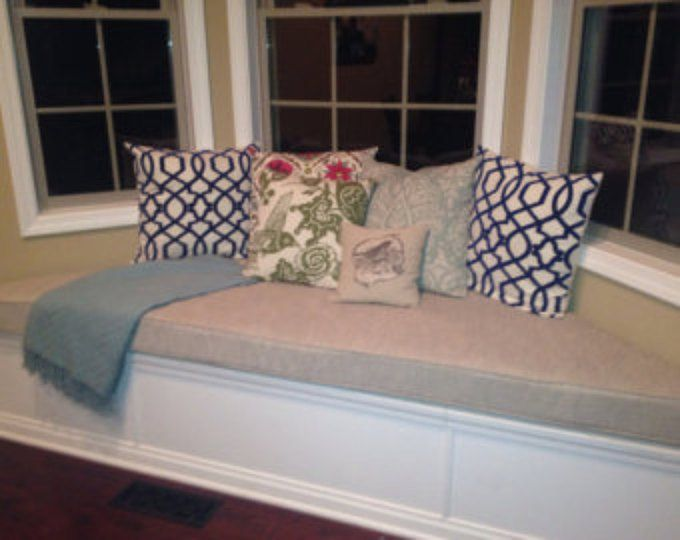 Bay Window Seat Cushion With Cording Playroom Trapezoid Etsy