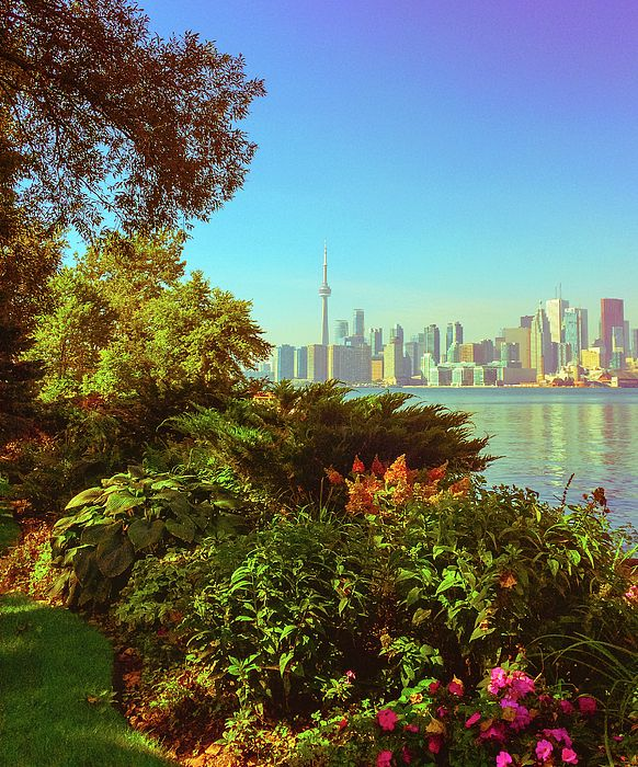 In The Good Old Summertime.  Beautiful view of the Toronto waterfront from Centre Island.