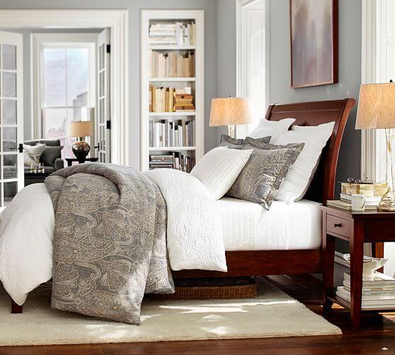 Valencia Bed U0026 BLeanne Duvet Cover U0026 Sham | Pottery. Master Bedroom ...